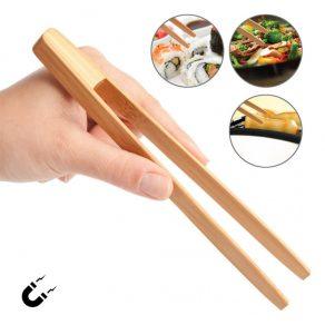 Magnetska kuhinjska pinceta - bambus