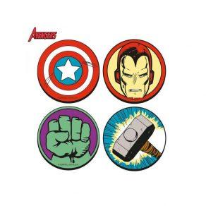 Marvel - podmetači za čaše Avengers, 4 kom