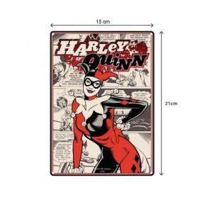 DC - ukrasna metalna pločica Harley Quinn