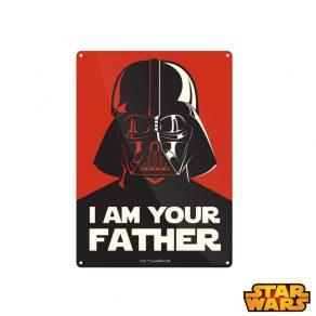 Star Wars - ukrasna metalna pločica I Am Your Father