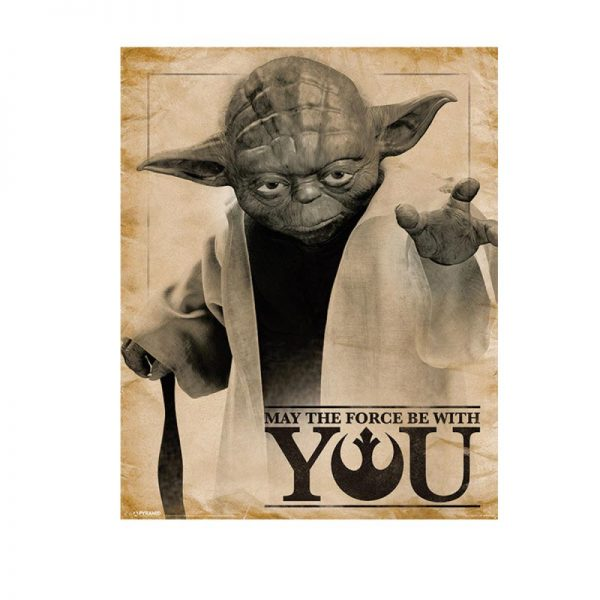 Star Wars - poster May the Force be With You