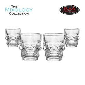 Čašice za žestoka pića - lubanja, 4 kom