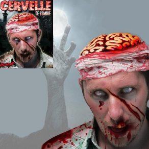 Maska - kapa zombi mozak