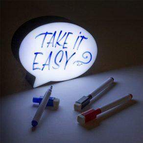 Stripovni oblačić LED s markerima, 4 kom