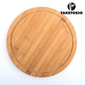Daska za rezanje od bambusa okrugla, 30 cm