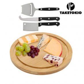 Set za rezanje i degustaciju sira + noževi, 4 dijela