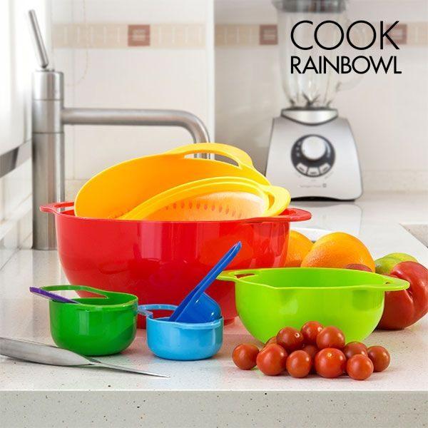 Cook Rainbow kuhinjske posude, 8 dijelova