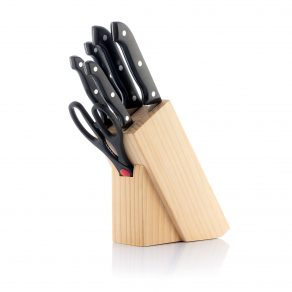 Set noževa i škare sa stalkom, 6 dijelova