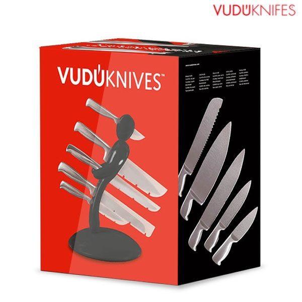 Set noževa sa stalkom VuduKnives, 5 dijelova