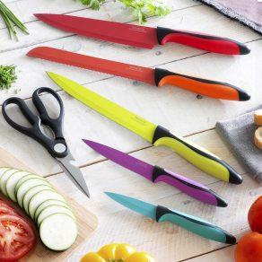 Set keramičkih noževa i škare, 6 dijelova