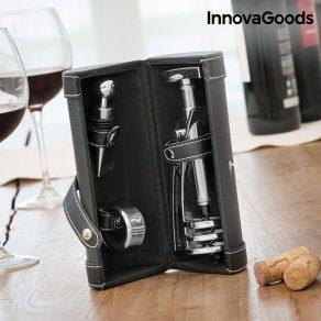 Set za otvaranje i posluživanje vina u sanduku, 4 dijela