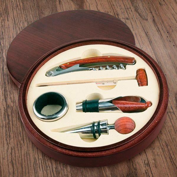 Set za otvaranje i posluživanje vina okrugli, 5 dijelova