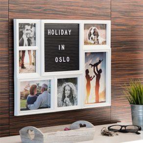 Okvir za fotografije s pločom i slovima, 6 fotografija