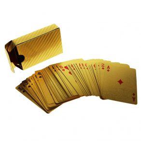 Zlatne igraće karte za poker