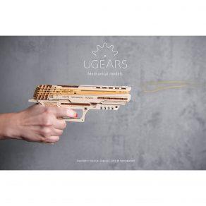 Ugears drvena maketa - Wolf-01 pištolj na gumice