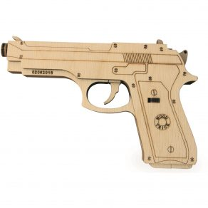 Wood Trick drvena maketa - pištolj na gumice