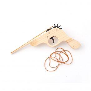 Drveni pištolj na gumice