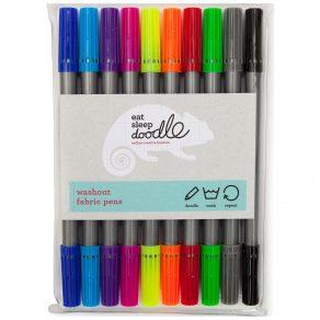 EatSleepDoodle - perivi markeri za tekstil, 10 kom