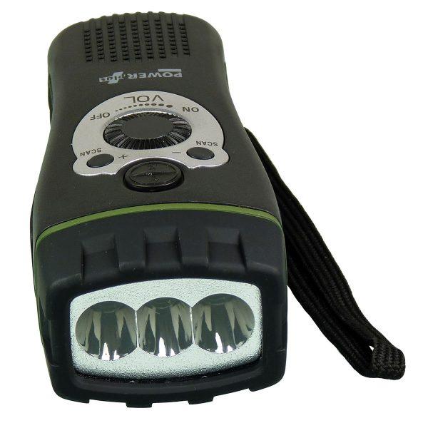 LED ručna svjetiljka na navijanje + radio alarm