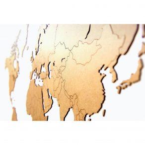 MiMi Innovations - Drvena karta svijeta 130x78 cm