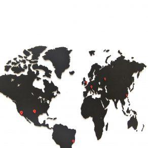 MiMi Innovations - Drvena karta svijeta 90x54 cm