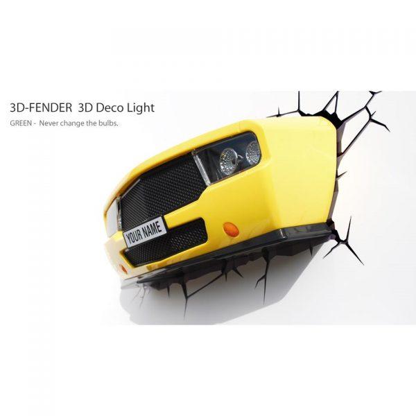 3D Muscle Car zidna svjetiljka
