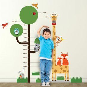 Dekorativna naljepnica - metar za mjerenje visine