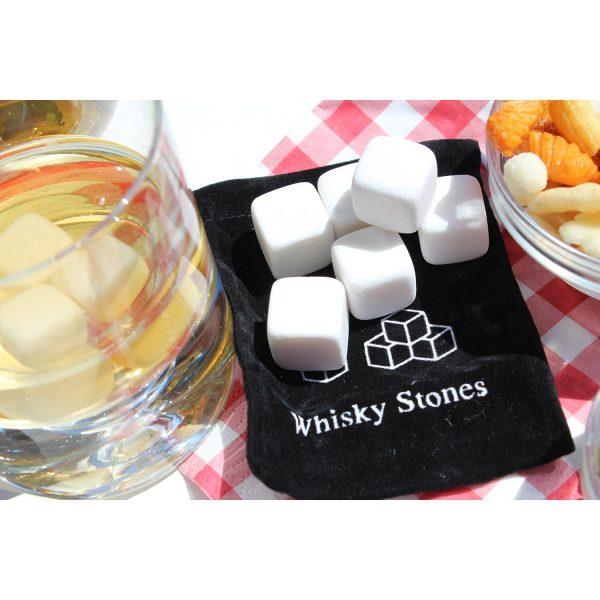 Whisky Stones - kamene kocke za hlađenje bijele, 9 kom