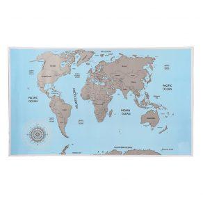 Karta svijeta - strugalica