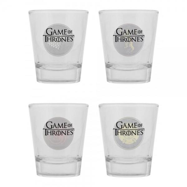 Game of Thrones – čašice za žestoka pića, 4 kom