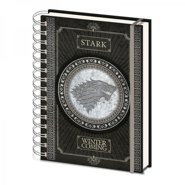 Game of Thrones - bilježnica Stark