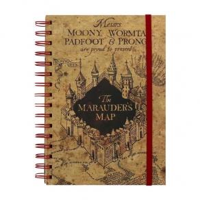 Harry Potter - bilježnica The Marauder's Map