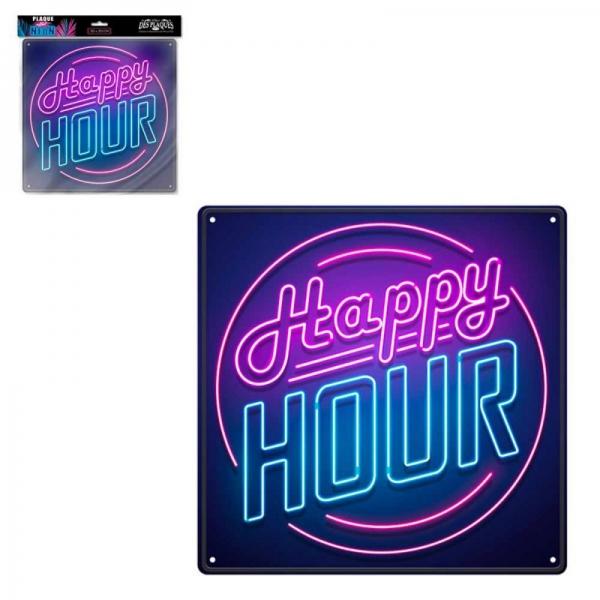 Ukrasna metalna pločica Happy Hour, 30 x 30 cm