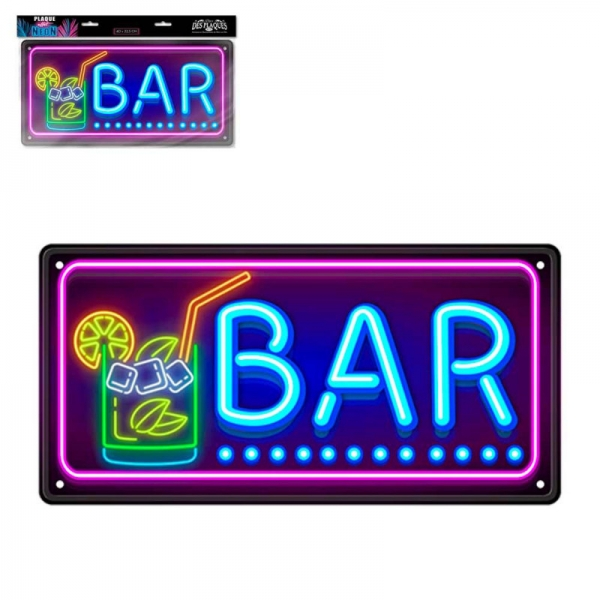 Ukrasna metalna pločica Bar, 45 x 22,5 cm