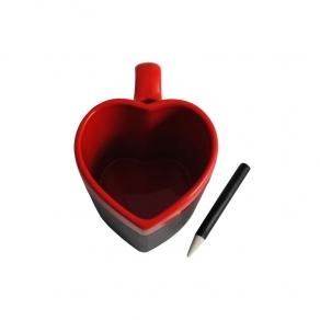 Šalica – srce s efektom školske ploče