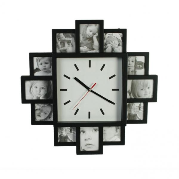 Zidni sat – 12 okvira za slike