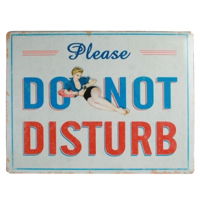 Ukrasna metalna pločica Do Not Disturb, 40 x 30 cm