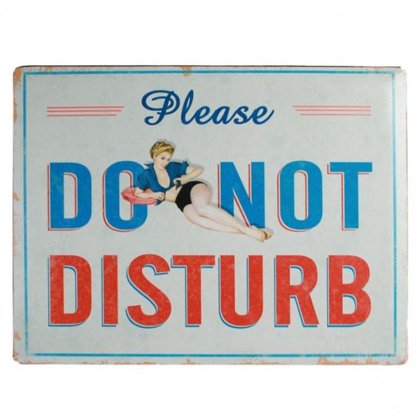 Ukrasna metalna pločica Do Not Disturb, 40 x 30 cm
