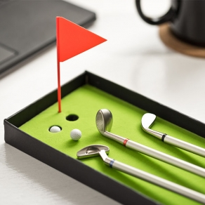 Kemijske olovke – palice za golf + mini teren