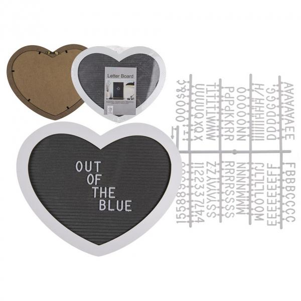 Zidni ukras – srce sa slovima, 145 znakova