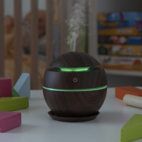 LED ovlaživač zraka i difuzor eteričnih ulja - Dark Walnut