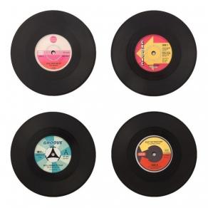 Podmetači za čaše - gramofonske ploče, 4 kom
