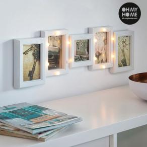 LED okvir za fotografije, 5 fotografija
