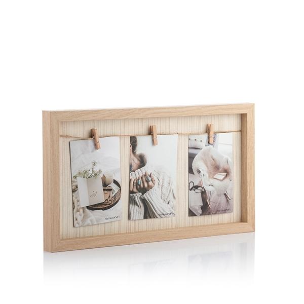 Okvir za fotografije - štipaljke na uzici