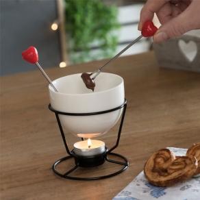 Mini fondue za čokoladu - srca