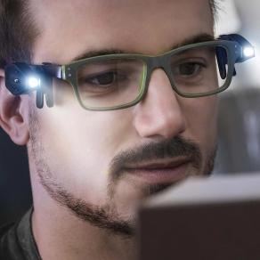 LED svjetiljke za naočale sa štipaljkama, 2 kom