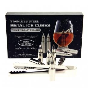 Whisky Stones – metalni meci za hlađenje pića, 6 kom
