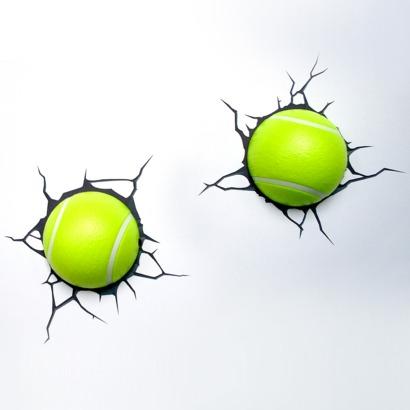 3D teniska loptica zidna svjetiljka