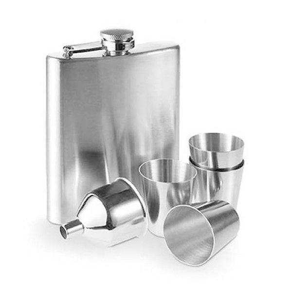 Pljoska s čašicama - poklon set, 7 dijelova