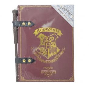 Harry Potter - Bilježnica i olovka u obliku čarobnog štapića